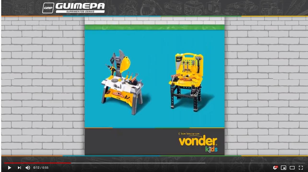 Kit Bancada de Ferramentas de Brinquedo VONDER - GUIMEPA